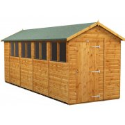Power 18x6 Apex Garden Shed - Single Door